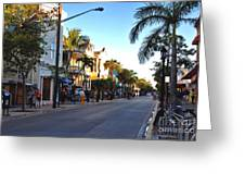 Duval Street In Key West Greeting Card by Susanne Van Hulst