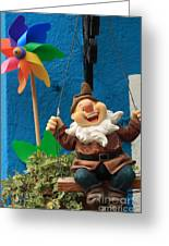 Dwarf On Burano Greeting Card