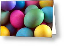 Dyed Easter Egg Abstract Greeting Card