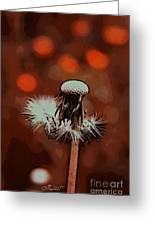 Dying Blowball Greeting Card