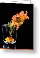 Dying Dahlia Flower Greeting Card
