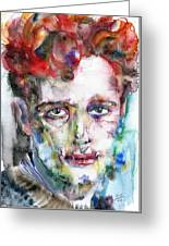 Dylan Thomas - Watercolor Portrait.5 Greeting Card