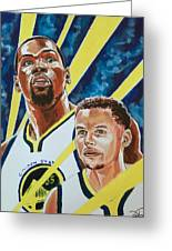 Dynamic Duo - Durant And Curry Greeting Card