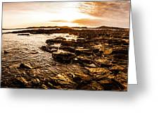 Dynamic Ocean Panoramic Greeting Card