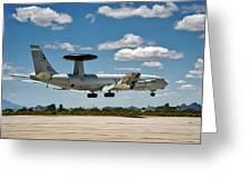 E-3 Sentry A W A C S Greeting Card