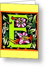 E In Green Greeting Card