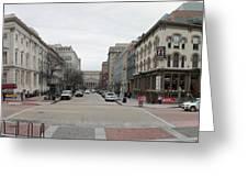 E Street Panorama Greeting Card