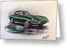 E Type Jag Greeting Card