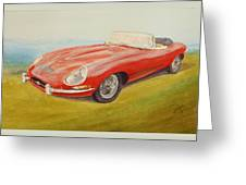 E-type Jaguar Greeting Card