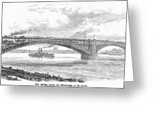 Eads Bridge, St Louis Greeting Card