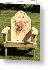 Eagle Adirondack Chair Greeting Card