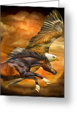Eagle And Horse - Spirits Of The Wind Greeting Card