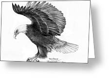 Eagle Attacking Greeting Card by Bob Patterson