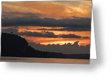 Eagle Bluff Sunset Greeting Card