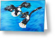 Eagle Fight Greeting Card
