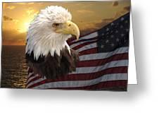 Eagle Flag I Greeting Card