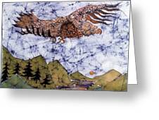 Eagle Flies Above Gorge Greeting Card by Carol Law Conklin