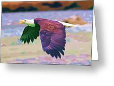 Eagle In Air Greeting Card