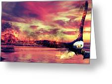 Eagle In Fire Greeting Card