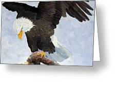 Eagle Landing Greeting Card