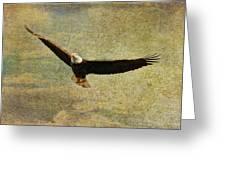 Eagle Medicine Greeting Card by Deborah Benoit