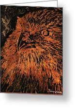 Eagle Metallic Copper Greeting Card