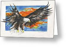 Eagle Of The Resurrection Greeting Card