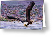 Eagle On A Mission Greeting Card