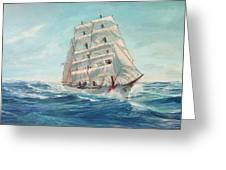 Sailing Eagle Greeting Card
