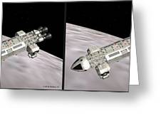 Eagle Shuttle - Gently Cross Your Eyes And Focus On The Middle Image Greeting Card