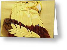 Eaglehead With Two Feathers Greeting Card