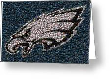 Eagles Bottle Cap Mosaic Greeting Card