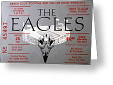 Eagles Concert Ticket 1980 Greeting Card