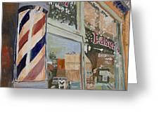 Eaker's Barbershop Greeting Card