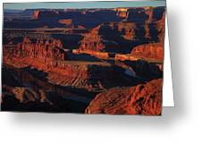 Early Morning Light Hits Dead Horse Point State Park Greeting Card