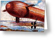 Early 1900s Military Airship Greeting Card