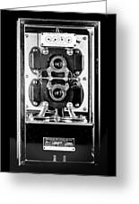 Early 1900s Type Cs Watthour Meter In Black And White Greeting Card