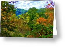Early Autumn Along The Rogue River In Oregon Greeting Card