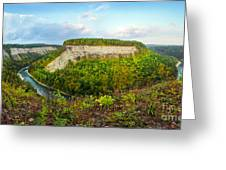 Early Autumn At Genesee River Canyon New York Greeting Card
