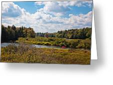 Early Autumn At The Tobie Trail Bridge Greeting Card