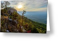 Early Autumn On Pilot Mountain Greeting Card