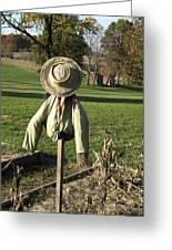 Early Autumn Scarecrow Greeting Card