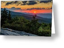 Blue Ridge Parkway Sunrise - Beacon Heights - North Carolina Greeting Card