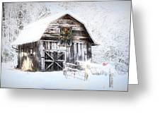 Early December Snowfall Morning Greeting Card