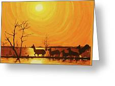 Early Dusk Greeting Card