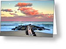 Early Evening At The Beach Greeting Card