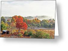 Early Fall Morning Greeting Card