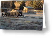 Early Farm Wagon Greeting Card