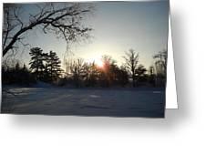 Early January Winter Sunrise Greeting Card