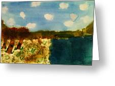 Early Landscape Greeting Card